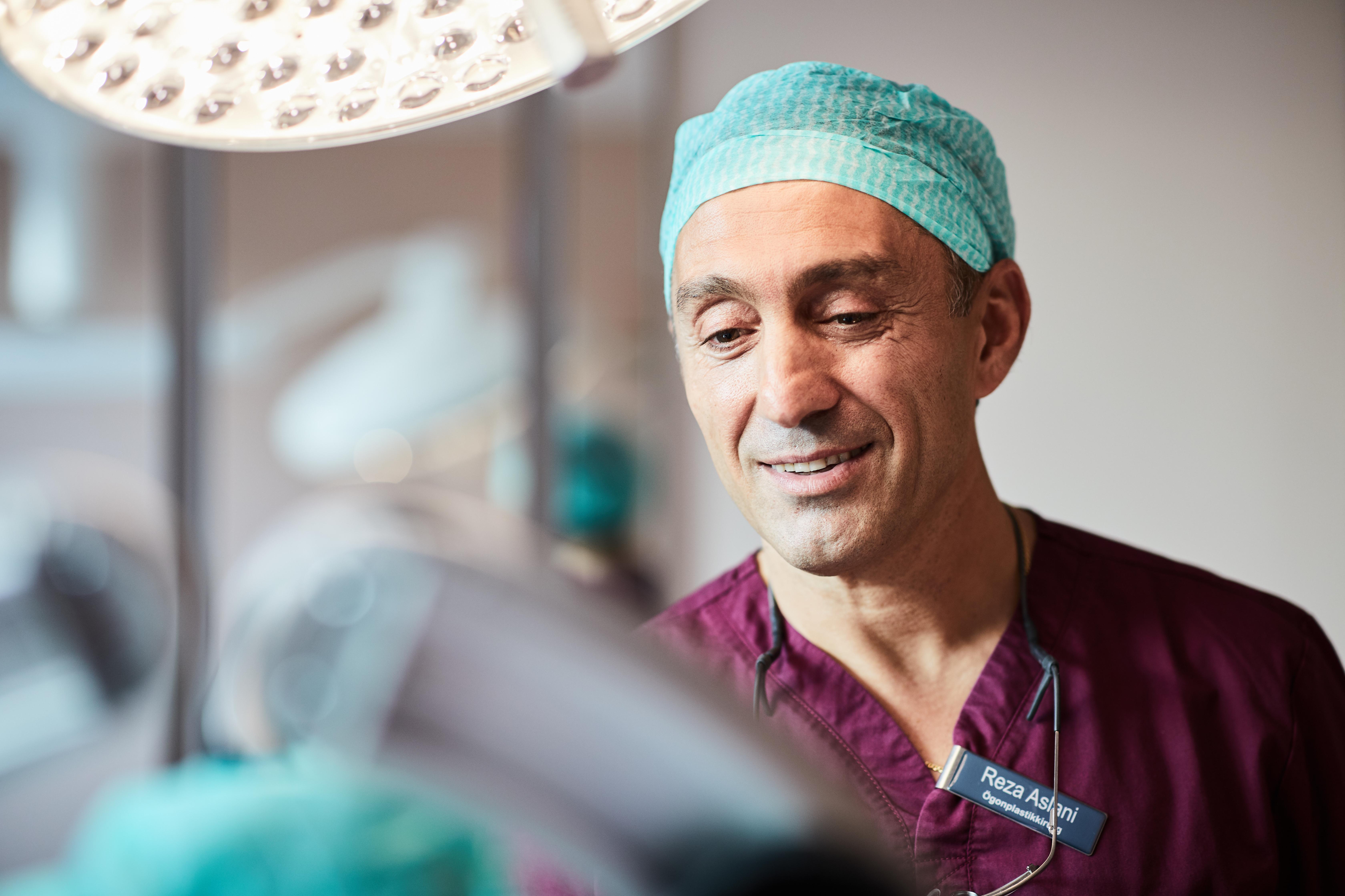 Operation övre ögonlock